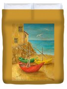 Monterosso On Riviera Di Levante Duvet Cover