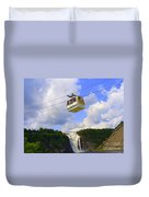 Montmorency Falls And Gondola Duvet Cover