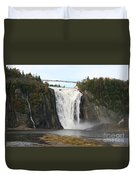 Montmorency Waterfall - Canada Duvet Cover