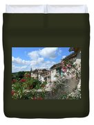 French Hilltop Terraces Duvet Cover by France  Art