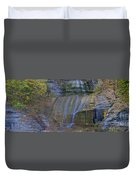 Montour Falls Fall Panorama Duvet Cover