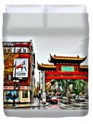 Montreal China Town Duvet Cover