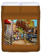 Montreal Streetscenes By Cityscene Artist Carole Spandau Over 500 Montreal Canvas Prints To Choose  Duvet Cover