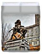 Montreal War Horse Duvet Cover
