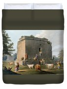 Monument Between Tripoli And Tortosa Duvet Cover