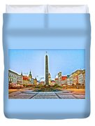Monument In B.bystrica Duvet Cover