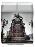 Monument To Russian Emperor Nicholas I In St . Petersburg . Russia Duvet Cover