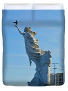 Monument To The Immigrants Statue 2 Duvet Cover