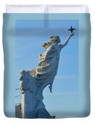 Monument To The Immigrants Statue 4 Duvet Cover