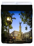 Monument To The Marquis Of Comillas Cadiz Spain Duvet Cover