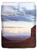 Monument Valley At Sunset Duvet Cover