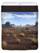 Monument Valley From North Window Duvet Cover