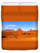 Monument Valley - Panorama Duvet Cover
