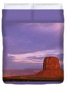Monument Valley Red Rock Formations At Sunrise Duvet Cover