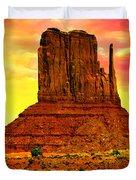 Monument Valley Right Mitten Sunrise Painting Duvet Cover