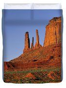 Monument Valley - The Three Sisters Duvet Cover