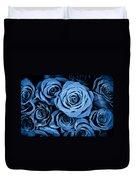 Moody Blue Rose Bouquet Duvet Cover