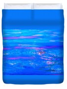Moody Blues Abstract Duvet Cover