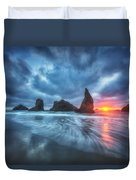 Moody Blues Of Oregon Duvet Cover by Darren  White