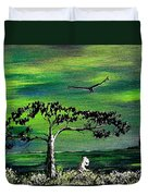 Moomintroll And Lighthouse Duvet Cover