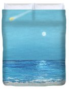 Moon And Meteor Duvet Cover
