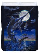 Moon Doggie Off00124 Duvet Cover by Carey Chen