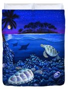 Moon Glow Duvet Cover by Carolyn Steele