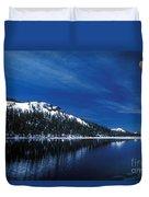 Moon - Lake Duvet Cover