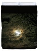 Moon Light With Clouds Duvet Cover