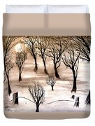 Moon Lit Fog Duvet Cover