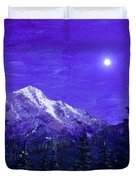 Moon Mountain Duvet Cover