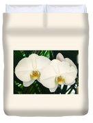 Moon Orchid Pair Duvet Cover