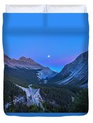Moon Over Icefields Parkway Duvet Cover