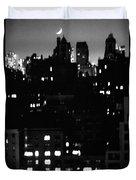 Moon Over Manhattan Duvet Cover