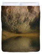 Moon Over Ocean Duvet Cover by Ayse Deniz