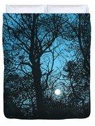 Moon Over Pittsburgh Duvet Cover