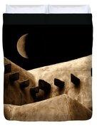 Moon Over Santa Fe Duvet Cover