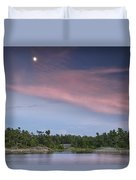 Moon Over The Bay Duvet Cover