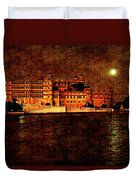 Moon Over Udaipur Painted Version Duvet Cover