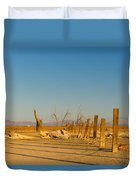 Moon Rise Over Waste Land Duvet Cover