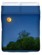 Moon Rising At The Lake House 05/24/13 Oakland County Mi Duvet Cover