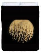 Moon Through The Palms Duvet Cover