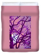 Moon Tree Pink Duvet Cover by First Star Art