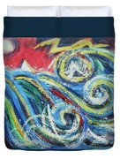 Moonlight And Chaos Duvet Cover
