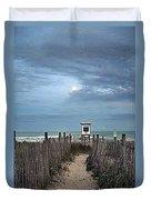 Moonlight Drama On The Beach Duvet Cover