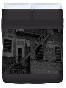 Moonlight Fire Escape Usa Near Infrared Duvet Cover