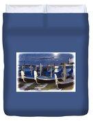 Moonlight Gondolas - Venice Duvet Cover