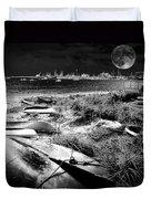 Moonlight On The Bay Duvet Cover