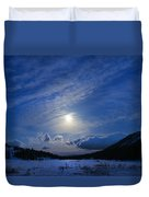 Moonlight Over Tahoe Meadows Duvet Cover