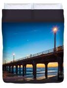 Moonlight Pier Duvet Cover